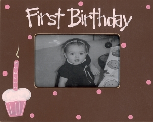 First Birthday Frame retails for $40.00
