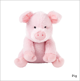 Cozy Plush Pig by Pritty Imports retails for $19.95