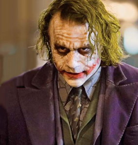 heath leger as the joker
