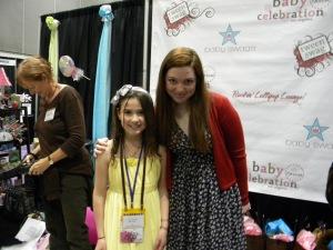 Jennifer Stone with Tween Reporter, Christina