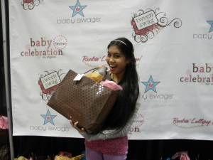 Ashley Argota from True Jackson VP at the Rockin Lollipop Lounge celebrity teen gift suite