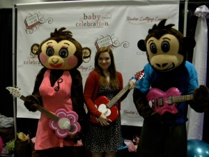 Jennifer Stone poses with Daisy Rock Guitar
