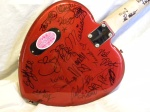 celebrity signed daisy rock guitar